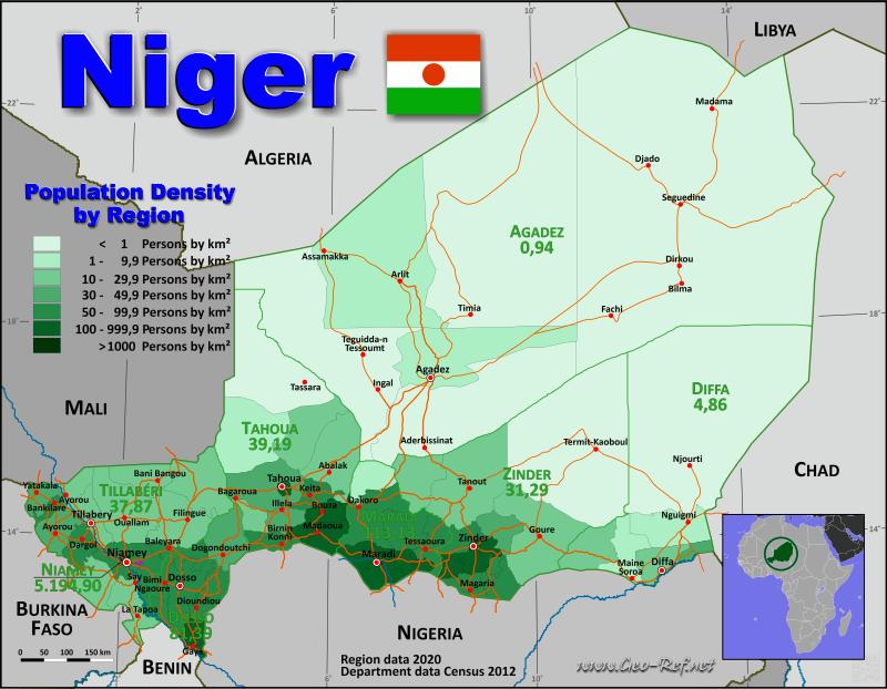 niger map geography of niger map of niger worldatlascom - 600×467