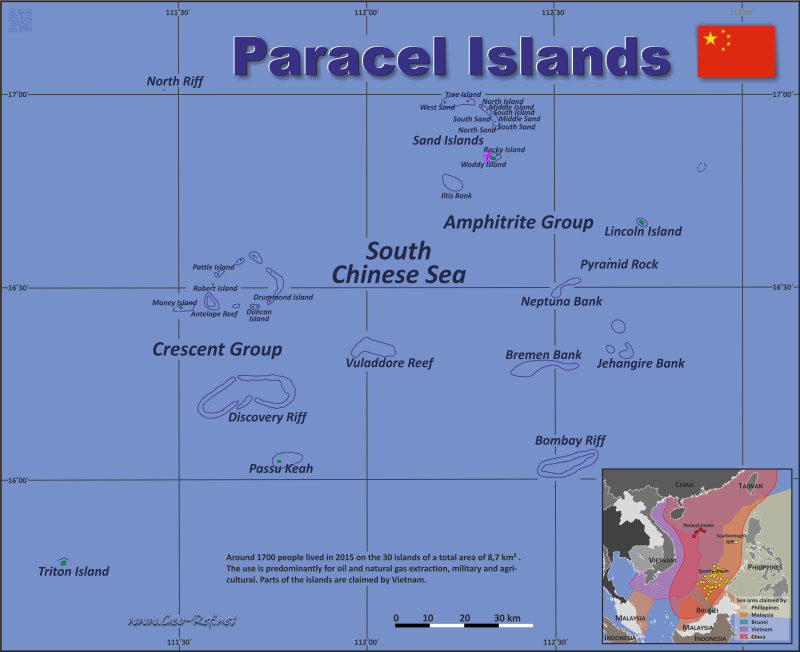 Map Paracel Islands - Population density